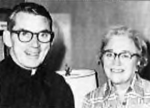 Helen Walsh, President with Cardinal Manning in ACCW office